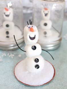 For our money, it's tough to beat a good mason jar project, and this sweet Olaf snow globe would make a great rainy day activity. Source: Sisters Suitcase Blog