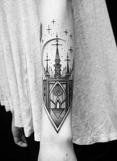 Castle forearm tattoo - 110+ Awesome Forearm Tattoos  <3 <3