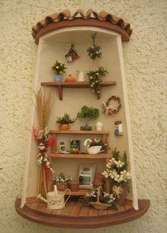 Balcones miniatura fachadas y retablos pinterest - Tejas pequenas decoradas ...