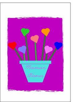 Carte Bouquet de coeurs pour maman pour envoyer par La Poste, sur Merci-Facteur !
