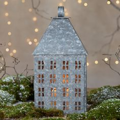 Metal House Lantern, Large in HOLIDAY Décor + Accents at Terrain