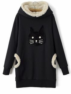 New Arrival Campus Round Neck Long Sleeve Blended  Hoody Hoodies from stylishplus.com
