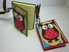 I'm still working on little convention gifts. I have a dozen of these little Post It note key chains  to share. Don't get sick of the owl pu...