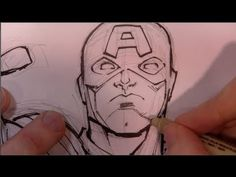 ▶ Drawing & Inking Captain America (with Todd Nauck) - YouTube
