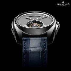 The mat-polish dial of the Tourbillon Heure Minute is obtained from a special technique and is entirely made by hand. by akrivia