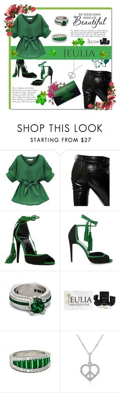 """""""Go back to the Spring - Jeulia jewerly"""" by e-mina-87 ❤ liked on Polyvore featuring Each X Other, Pierre Hardy, Emeline Coates, vintage, women's clothing, women's fashion, women, female, woman and misses"""