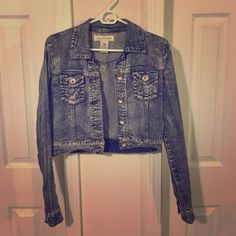 Cropped jean jacket Perfect condition! Jackets & Coats Jean Jackets