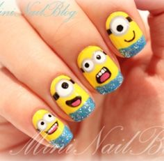 These 20 Adorable Deable Me Minions Nail Art Designs Are A Good Example Of How Cute You Can Get Your Nails