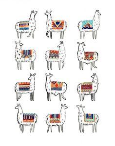 Llama-rama Print by CactusClub on Etsy https://www.etsy.com/ca/listing/179999931/llama-rama-print