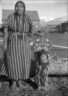 Lucy Joscum with child - Flathead - circa 1906