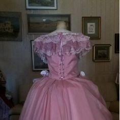 Abito Storico ABITI STORICI 1800 STILE IMPERO - ROMANTICISMO - ABITO STORICO FEMMINILE 1860 - realizzato su misura a mano