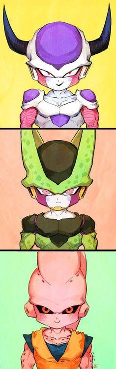 Dragon Ball Z   DBZ   Freezer   Frieza   Cell   Majin Buu   Anime