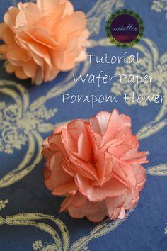 Wafer Paper Pompom Flower Tutorial - CakesDecor