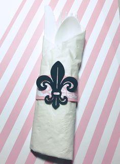 Paris Theme Party Paris napkin rings set of 20 by KDODesigns