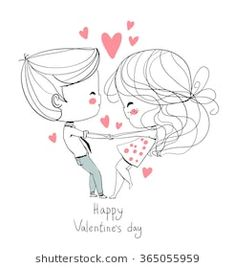 Find Valentines Day Boy Girl Love Cards stock images in HD and millions of other royalty-free stock photos, illustrations and vectors in the Shutterstock collection. Valentines Day Drawing, Valentines Day Couple, Valentine Day Love, Couple Drawings, Love Drawings, Cartoon Drawings, Girls Holding Hands, Hand Embroidery Patterns, Love Cards
