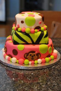 My daughter's 1st birthday cake
