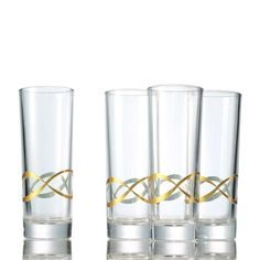 "Bring the celebration to the next level with a hint of glint. These are perfect for a mixed cocktail. Just add ice (no shaker needed!).FEATURES• Holds approximately 10 oz.• 6.5"" high; top diameter 2.35""; bottom diameter 2.15""MATERIALS• GlassCAREHand wash only.Made in ChinaWhile supplies last."