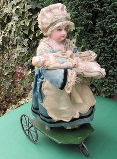 Antique French Bisque Doll Automaton / Mechanical Toy By Vichy Paris 1875