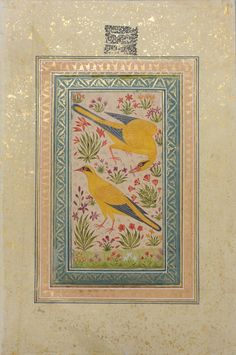 India Painting, Artist Painting, Blue Carnations, Indian Folk Art, Pet Birds, 18th Century, Planting Flowers, Wings, Objects