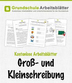 Kostenlose Arbeitsblätter und Unterrichtsmaterial für den Deutsch-Unterricht zum Thema Groß- und Kleinschreibung in der Grundschule.