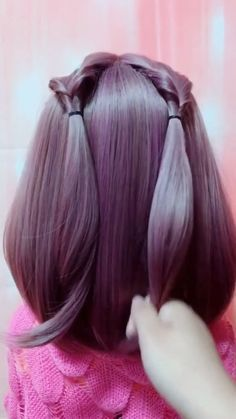 Easy and beautiful Bun Hairstyles For Long Hair, Braids For Long Hair, Diy Hairstyles, Hairstyles Videos, Black Braids, Beautiful Hairstyles, Wedding Hairstyles, Front Hair Styles, Medium Hair Styles