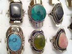 Beautiful Semi-Precious Stone Rings. Click the link to purchase our unique handmade Peruvian jewelry at awesome wholesale prices (includes shipping & insurance!)  Make money with your own online or offline business selling Peruvian Jewelry or save big on beautiful gifts for yourself or that special someone! Click here:  http://www.wholesaleperuvianjewelry.com/