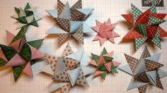 Fröbelstern - How to make an Origami Froebel Star. I remember having stars like this on our Christmas tree as a child, so pretty.