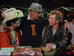 """Colonel Blake, """"paling around"""" wjth Hawkeye and Trapper. Great Tv Shows, Old Tv Shows, Henry Blake, Alan Alda Mash, Wayne Rogers, Mash 4077, Hogans Heroes, My Father's World"""
