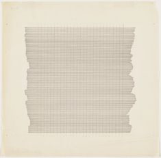 Ink on paper. 11 x 12 x cm). Acquired with matching funds from The Lauder Foundation and the National Endowment for the Arts. © 2020 Estate of Agnes Martin / Artists Rights Society (ARS), New York. Drawings and Prints Institute Of Contemporary Art, Modern Contemporary, Agnes Martin, Robert Rauschenberg, Abstract Painters, Famous Art, Moma, Art History, Book Art