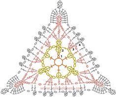 삼각모티브로 만드는 코바늘 도일리도안