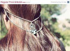 VALENTINE SALE Silver and Turquoise Double Ear by sweetpeepshere, $14.40