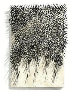 GÜNTHER UECKER http://www.widewalls.ch/artist/gunther-uecker/  #installation #kineticart #opart #sculpture #zeromovement