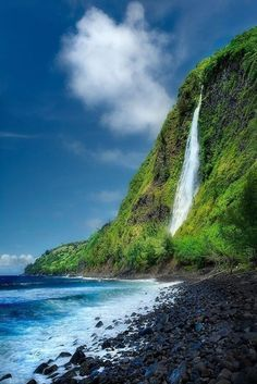 Kaluahine Falls, Big Island, Hawaii