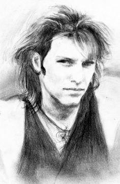 Jon Bon Jovi 93 - First sketch by akaLilith.deviantart.com
