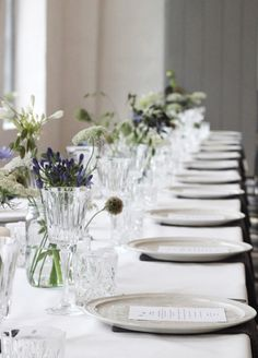 Table Setting, A Table Story, Naming Celebration, via scandinavianlovesong A Table, Scandinavian, Table Settings, Dining Room, Table Decorations, Celebrities, Interior, Christening, Tabletop