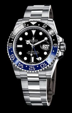 ...BaselWorld 2013 Introduction... Stainless Steel GMT Black and Blue Ceramic Bezel 40MM Reference 116710BLNR Hmmmm...