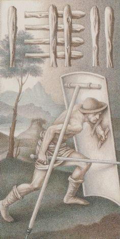 Nine of Wands - Leonardo Da Vinci Tatot by A. Atanassov, Iassen Ghiuselev