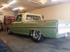 Fierd Bagged Trucks, Lowered Trucks, Old Pickup Trucks, Hot Rod Trucks, Lifted Ford Trucks, Cool Trucks, F100 Truck, Hot Rod Pickup, Classic Ford Trucks