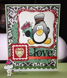 Bugaboo Stamps Valentine. See more on my blog: Cheryl Ann First Expressions