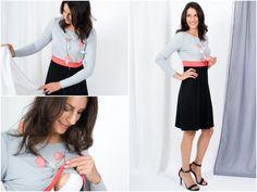 Stillmode - MANIA Stillkleid Lilly color - ein Designerstück von Mania-Stillmode bei DaWanda