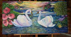 Pintura arte en Óleo por la artista M. A. Eslait