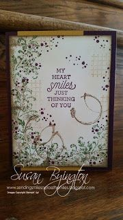 Stampin' Up! Timeless Textures and Suite Sayings stamp sets with rich jewel tone colors.