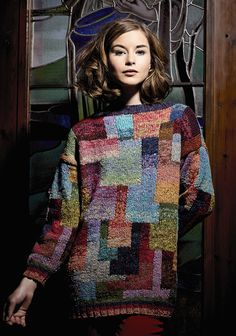 Rowan Magazine 56 A/W 2014: Katja, designed by Kaffe Fassett, in Rowan Fine Tweed