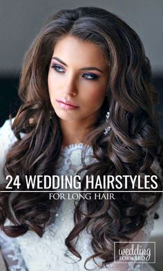 24 Bride's Favourite Wedding Hairstyles For Long Hair ❤ From soft layers to half up half down hairstyles, there are many possibilities for either a classic, modern or rustic look. See more: http://www.weddingforward.com/wedding-hairstyles-long-hair/ #wedding #hairstyle