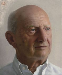 Aram Gershuni Portrait of a Man  Oil on Wood 29X23 cm. 2010