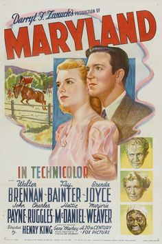 Maryland is a 1940 film directed by Henry King It stars Walter Brennan and Fay Bainter United states naval academy annapolis maryland recruiting film 1940s Movies, Old Movies, Vintage Tv, Vintage Movies, Old Film Posters, John Payne, Fox Pictures, John Charles, Actor John