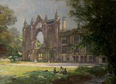 Spooner, Arthur, (1873-1962), Newstead Abbey, Nottinghamshire, 1944, Oil