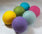 Wool Dryer Balls - Pastel Pretties - Set of 6 Eco Friendly - Can be Scented or Unscented with refill scents as well