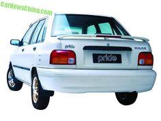 Spotted in China: a dusty Kia Pride sedan - CarNewsChina.com Kia Pride, Kia Motors, China, Porcelain
