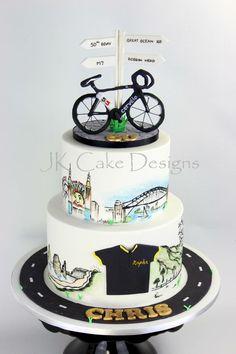Cycle bike themed birthday cake